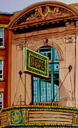 Forties Paintings - Vintage Rialto Marquee Theatre-montreal Heritage Building by Carole Spandau