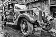 Vintage Photography Prints - Vintage Rolls Royce at Central Station Print by John Farnan