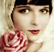 Vintage Rose Print by Zeana Romanovna