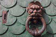Rusty Door Prints - Vintage rusty door knocker in Pisa Italy Print by Kiril Stanchev