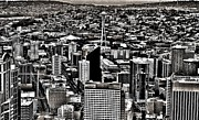 Seattle Skyline Photos - Vintage Seattle by Benjamin Yeager