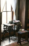 Treadle Prints - Vintage Sewing Print by Linda Albonico
