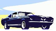 Vintage Shelby Gt500 Print by Bob Orsillo