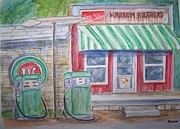 Vintage Sinclair Gas Station Print by Belinda Lawson