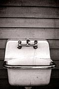 Mounted Photos - Vintage Sink by Olivier Le Queinec