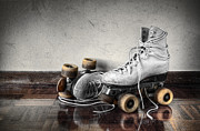 Exercise Photo Posters - Vintage Skates Poster by Carlos Caetano