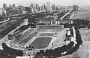 Stadium Photo Prints - Vintage Soldier Field - Chicago Bears Stadium Print by Horsch Gallery