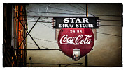 Vintage Star Drug Store Print by Perry Webster