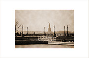 Liberty Island Prints - Vintage statue of Liberty view Print by RicardMN Photography