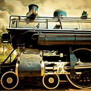Wingsdomain Art and Photography - Vintage Steam Locomotive 5D29112brun square