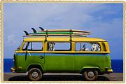 Vintage Surf Van Print by Diane Diederich