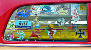 Wipe Out Framed Prints - Vintage Surfing Decals Framed Print by Ron Regalado