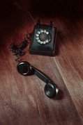Phone Conversation Posters - Vintage Telephone off the Hook Poster by Jill Battaglia