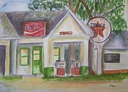 Vintage Texaco Gas Station Print by Belinda Lawson