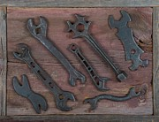 Cog Paintings - Vintage Tools by Kurt Olson