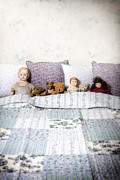 Cushion Posters - Vintage Toys Poster by Joana Kruse