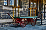Antique Wagon Posters - Vintage Train Baggage Wagon Poster by Paul Ward