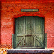 Receiving Framed Prints - Vintage Train Depot Receiving Door - Augusta Framed Print by Mark E Tisdale
