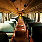 Wingsdomain Art and Photography - Vintage Train Passenger Car 5D28306brun square