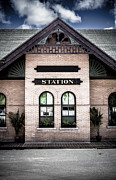 Train Station Photos - Vintage Train Station by Edward Fielding