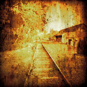 Maggie Vlazny Prints - Vintage Train Tracks Print by Maggie Vlazny