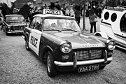 Vintage Police Vehicle Posters - Vintage Triumph Police Car At A Car Rally County Down Northern Ireland Uk Poster by Joe Fox