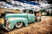 Gas Stations Prints - Vintage truck  Print by Emmanuel Panagiotakis