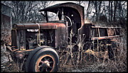 Dump Truck Framed Prints - Vintage Truck Framed Print by Joe Granita