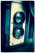 Camera Posters - Vintage Twin Lens Reflex Camera Poster by Edward Fielding