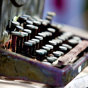 Typewriter Keys Photos - vintage Typewriter by Art Block Collections