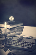 Desk Photo Prints - Vintage Typewriter Print by Christopher and Amanda Elwell