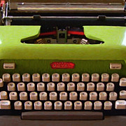 Author Prints - Vintage Typewriter - Painterly - square Print by Wingsdomain Art and Photography