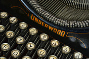 Underwood Typewriter Posters - Vintage Typewriter Poster by Paul Ward
