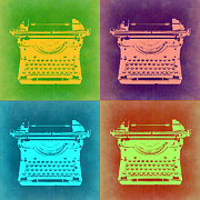 Typewriter Posters - Vintage Typewriter Pop Art 1 Poster by Irina  March