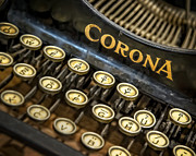 Corona Framed Prints - Vintage Typewriter Framed Print by Scott Norris