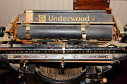 Underwood Typewriter Framed Prints - Vintage Underwood Typewriter 5D25836 Framed Print by Wingsdomain Art and Photography