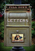 Interior Scene Photo Prints - Vintage US Mailbox II Print by Lee Dos Santos