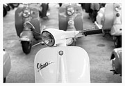 Wheels Framed Prints - Vintage Vespa Framed Print by Setsiri Silapasuwanchai