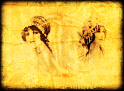 Fine Art  Of Women Digital Art - Vintage Victorian Rivals by Maggie Vlazny
