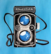 Camera Painting Posters - Vintage View Camera Poster by Karyn Robinson