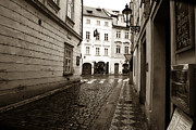 Interior Scene Metal Prints - Vintage Walk in Prague Metal Print by John Rizzuto