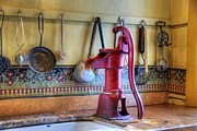 Historic Home Photo Metal Prints - Vintage Water Pump Metal Print by Juli Scalzi