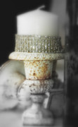 Home Decor Mixed Media - Vintage white on white luxe by adSpice Studios