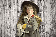 Vintage Woman In Uniform Print by Peggy Collins