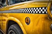Vintage Metal Prints - Vintage Yellow Cab Metal Print by John Farnan