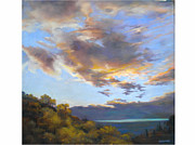 Sky Reliefs Metal Prints - Vinuela sunset Metal Print by Heather Harman