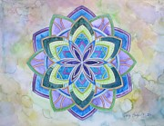 Clearing Mixed Media - Violet Flame Mandala by Holly Burger