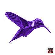 Animal Lover Digital Art - Violet Hummingbird - 2054 F S by James Ahn