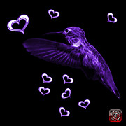 Animal Lover Digital Art - Violet Hummingbird - 2055 F M by James Ahn