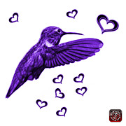 Animal Lover Digital Art - Violet Hummingbird - 2055 F S M by James Ahn